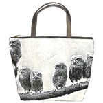 Screech Owl Babies Bucket Bag