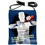 Vintage Public Health Service Poster Shoulder Sling Bag