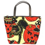 Halloween Cats Bucket Bag