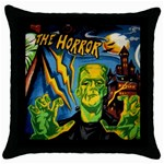 Monsters Throw Pillow Case (Black)
