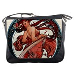 Dance by Alfons Mucha 1898 Messenger Bag