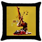 Zombie Pin Up Throw Pillow Case (Black)
