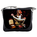 Zombie Pin Up Messenger Bag