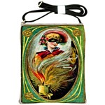 Vintage Halloween Card Shoulder Sling Bag