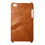 Brown Embossed Leather Texture Apple iPod Touch 4G Hardshell Case