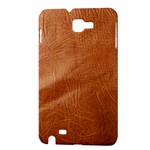 Brown Embossed Leather Texture Samsung Galaxy Note Hardshell Case