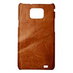 Brown Embossed Leather Texture Samsung Galaxy S II i9100 Hardshell Case