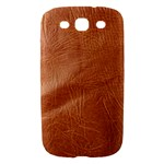 Brown Embossed Leather Texture Samsung Galaxy S III Hardshell Case