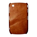Brown Embossed Leather Texture BlackBerry Curve 8520 9300 Hardshell Case