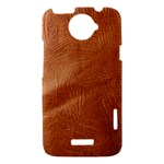 Brown Embossed Leather Texture HTC One X Hardshell Case