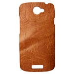 Brown Embossed Leather Texture HTC One S Hardshell Case