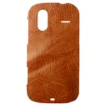 Brown Embossed Leather Texture HTC Amaze 4G Hardshell Case