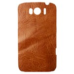 Brown Embossed Leather Texture HTC Sensation XL Hardshell Case