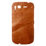 Brown Embossed Leather Texture HTC Desire S Hardshell Case
