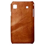 Brown Embossed Leather Texture Samsung Galaxy S i9000 Hardshell Case