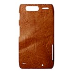 Brown Embossed Leather Texture Motorola Droid Razr XT912 Hardshell Case