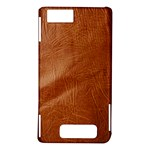 Brown Embossed Leather Texture Motorola Droid X / X2 Hardshell Case