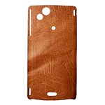 Brown Embossed Leather Texture Sony Ericsson Xperia Arc Hardshell Case