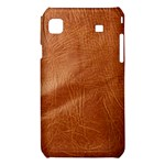 Brown Embossed Leather Texture Samsung Galaxy S i9008 Hardshell Case