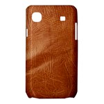 Brown Embossed Leather Texture Samsung Galaxy SL i9003 Hardshell Case