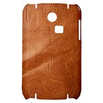Brown Embossed Leather Texture Samsung S3350 Hardshell Case
