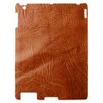 Brown Embossed Leather Texture Apple iPad 2 Hardshell Case
