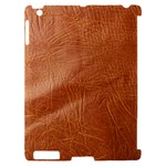 Brown Embossed Leather Texture Apple iPad 2 Hardshell Case (Compatible with Smart Cover)