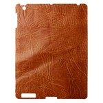Brown Embossed Leather Texture Apple iPad 3 Hardshell Case
