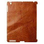 Brown Embossed Leather Texture Apple iPad 3 Hardshell Case (Compatible with Smart Cover)