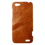 Brown Embossed Leather Texture HTC One V Hardshell Case