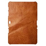 Brown Embossed Leather Texture Samsung Galaxy Tab 10.1  P7500 Hardshell Case