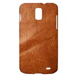 Brown Embossed Leather Texture Samsung Galaxy S II Skyrocket Hardshell Case