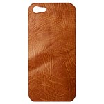 Brown Embossed Leather Texture Apple iPhone 5 Hardshell Case