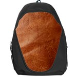 Brown Embossed Leather Texture Backpack Bag