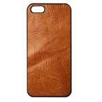 Brown Embossed Leather Texture Apple iPhone 5 Seamless Case (Black)