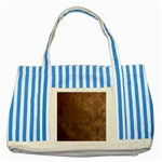 Gritty Brownstone Striped Blue Tote Bag