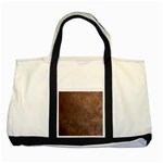 Gritty Brownstone Two Tone Tote Bag