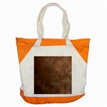 Gritty Brownstone Accent Tote Bag