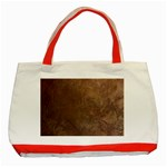 Gritty Brownstone Classic Tote Bag (Red)