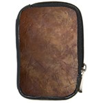 Gritty Brownstone Compact Camera Leather Case