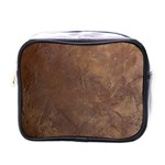 Gritty Brownstone Mini Toiletries Bag (One Side)