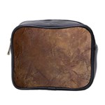 Gritty Brownstone Mini Toiletries Bag (Two Sides)