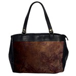 Gritty Brownstone Oversize Office Handbag (One Side)