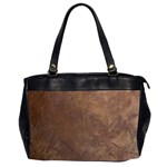 Gritty Brownstone Oversize Office Handbag (Two Sides)