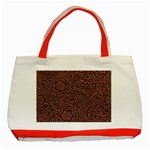 Flowers And Swirls Classic Tote Bag (Red)