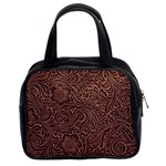 Flowers And Swirls Classic Handbag (Two Sides)
