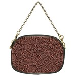 Flowers And Swirls Chain Purse (One Side)