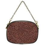 Flowers And Swirls Chain Purse (Two Sides)