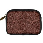 Flowers And Swirls Digital Camera Leather Case