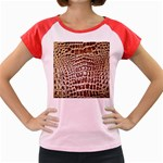 Ll Alligator Macro Women s Cap Sleeve T-Shirt